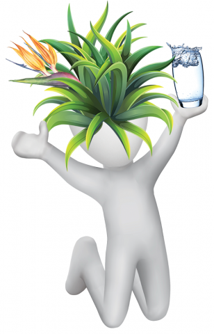 Mascot with drinking water