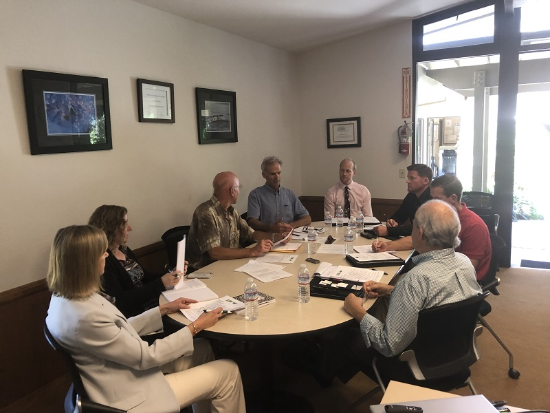 (Caption: The Districts are collaborating to determine the best approach to water reuse for the community. From left: Diane Gabriel, Carrie Poytress, Tom Bollay, Jeff Kerns, Adam Kanold, Brian Goebel, Floyd Wicks)
