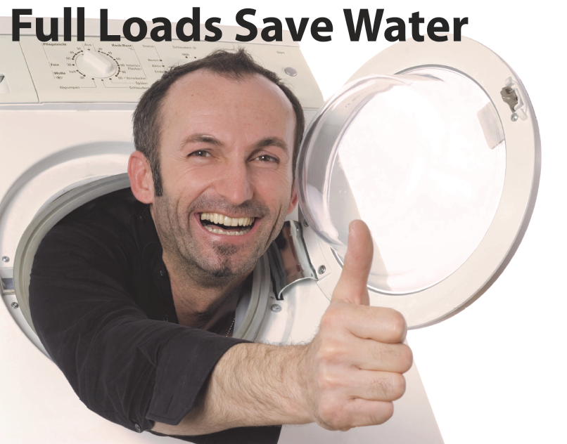 full loads save water